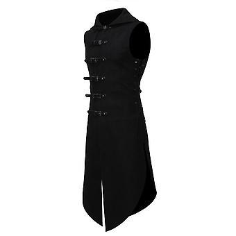 Men & apos;s القوطية البدلة الرسمية سترة, العصور الوسطى خمر بلا أكمام Steampunk بدلة الفيكتوري