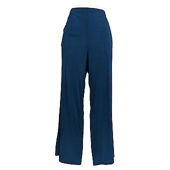 Joan Rivers Classics Collection Mujeres's Pantalones Palazzo Seam Azul A309245