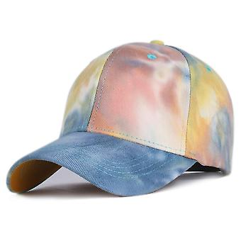 Tie-dye Baseball Cap, Spring Lovers Colorful Snapback Hat Outdoor Adjustable