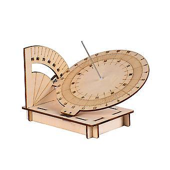 Handmade Assembly Sundial Compass Equatorial Sundial Clock Decorations