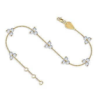 Anklet Constellation Britney, 18K kultaa ja timantteja