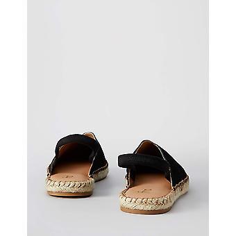 Brand - find. Women's Slingback Leather Espadrille Slip-On Shoe,Black,...