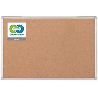 Earth-it Bi-Office Notice Board Cork with Aluminium Frame W900xH600mm Ref CA031790