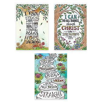 Devotional Bible Verses Rejoice Inspire U Poster 3-Pack