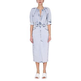 Iro Wp33alysublu3421s Women's Light Blue Cotton Dress