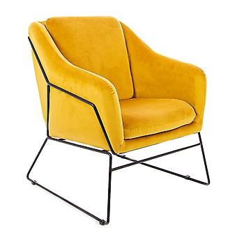 Charles Bentley Tilburg Velvet Occasion Chair Yellow Home Living Contemporary Living Area Statement Piece