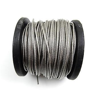 304 Edelstahl Pvc beschichtet flexible Draht Seil weiches Kabel Transparent