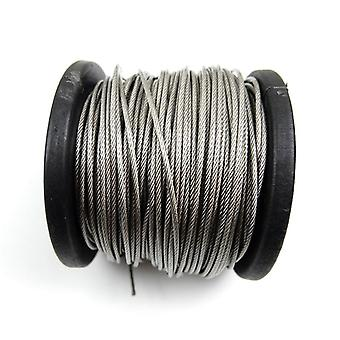 304 roestvrijstalen pvc gecoate flexibele draadkabel zachte kabel transparant