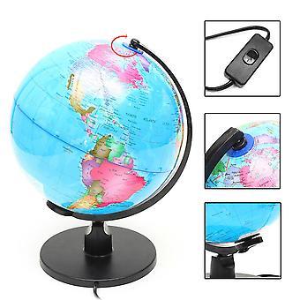 25cm 220V World Globe LED valaistu yövalolamppu Kotihuone Toimisto Sisustus Lapset Lahja