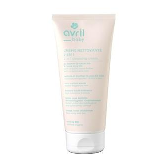 2 in 1 baby cleansing cream - certified organic 200 ml of cream