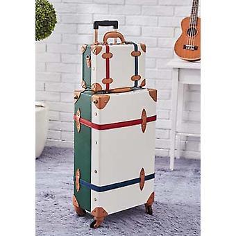 レトロなPuレザーローリングラゲッジセットスーツケースホイールトロリーハンドバッグ