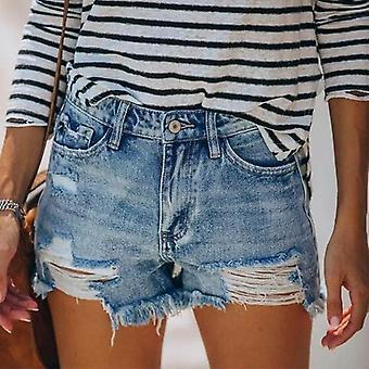 Frauen Fransen Denim Jeans Shorts