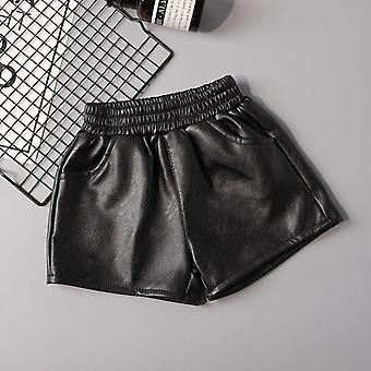 Girl Baby Pu Leather Shorts, Kids Comfortable Clothes