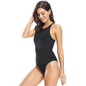 Triangle One-piece Swimsuit Women's Solid Color