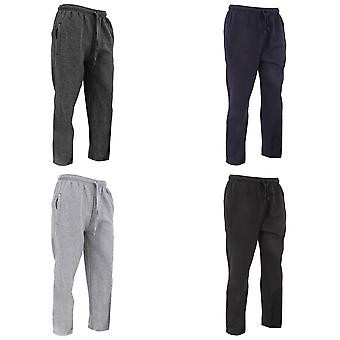 FLOSO Mens Casual Jogging Bottoms (Open Cuff)