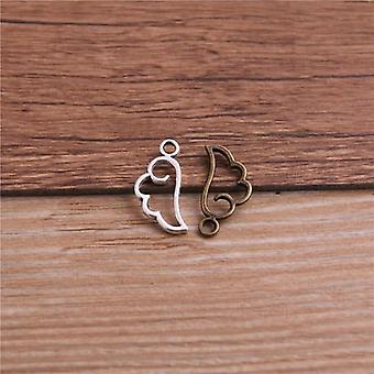 Metal Alloy  Mini Hollow Wing Charms Pendants For Jewelry