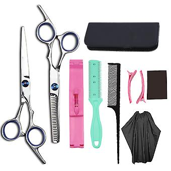Haircut scissors straight snips thinning hairdressing barber tools lf3