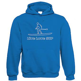 Live Love Sup, Unisex Hoodie - Stand Up Paddle Boarding Clothing Gift Him Her