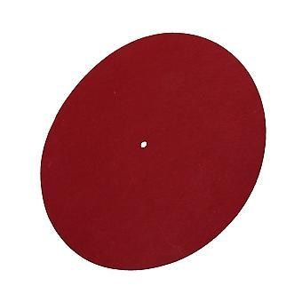 Wełna Filc 11.8Inch Dia Gramofony Record Player Slipmat Wine Red Mat Pad