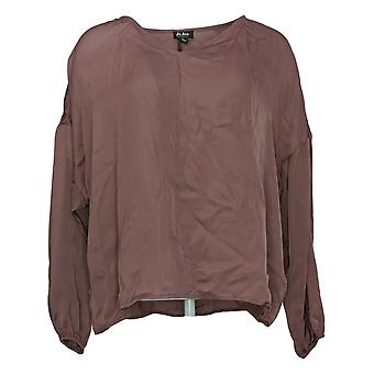 Du Jour Women's Top Reg V-Neck Drop Shoulder Blouse Pink A374142
