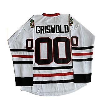 Clark Griswold #00 X-mas Christmas Vacation Movie Hockey Jersey Blanc