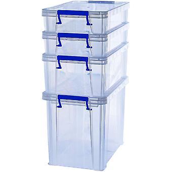 Gerui ProStore Plastic Storage Box Bonus Pack - 2 x 5.5 Litre, 1 x 18.5 Litre & 1 x 10 Litre