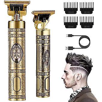 FengChun Haarschneidemaschine Profi,Kabelloser 0 mm T-Blade Trimmer Herren.Langhaarschneider Herren