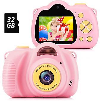 FengChun Kinder Kamera, Digitalkamera Kinder Selfie Fotoapparat Kinder mit 2,0-Zoll-Großbildschirm