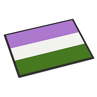 キャロラインズトレジャーズCK7994MAT Genderqueerプライド屋内または屋外マット18x27