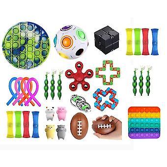 32pcs Fidget Pop it Toys Set pack til børn og voksne