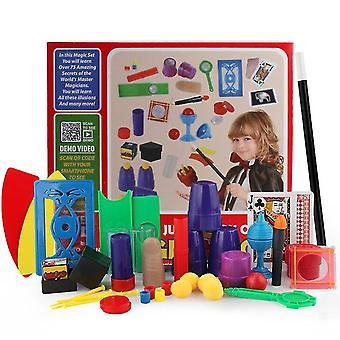 赤い魔法の小道具セットギフトボックスクローズアップステージ子供の魔法のおもちゃ新しい奇妙なインタラクティブなパフォーマンス小道具az9448