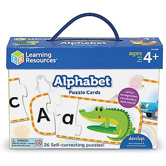 Learning Resources Upper & Lowercase Alphabet Puzzle Cards