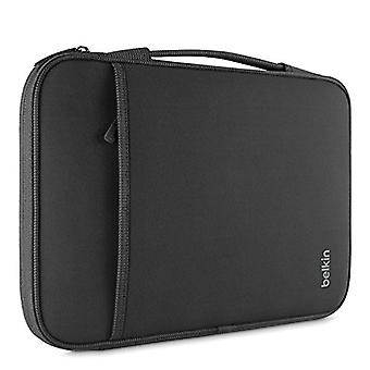 Belkin Slim Skyddshylsa med bärhandtag och förvaring med dragkedja för Chromebooks, Netbooks och bärbara datorer Upp till 13 tum - Svart