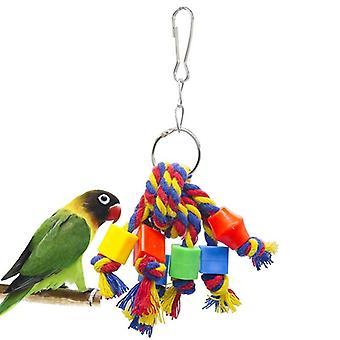 Vogel Kauen Spielzeug Baumwolle Seil Papagei Spielzeug Biss resistent Vogel reißen Spielzeug