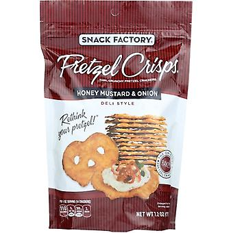 Snack Factory Pretzel Crisp Hny Mstrd&O, kotelo 12 X 7,2 Oz