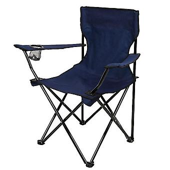 Navy blue outdoor portable folding chair for camping barbecue picnic fishing travel az10631