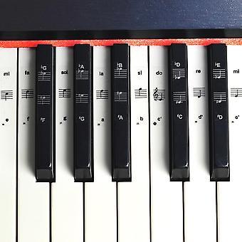 De Stickers van de zeer belangrijke Piano, Transparante Sticker van Pvc, Staaf Elektronisch Toetsenbord, Naam