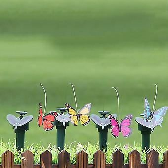 Solar Powered Dancing Flying Butterfly Garden Yard Decoration Solar Toys