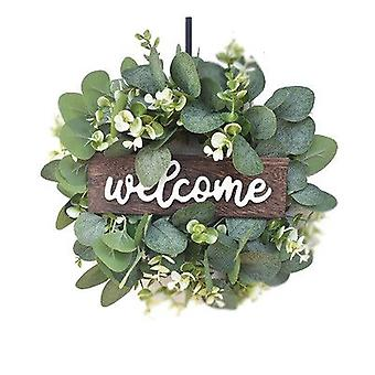 'welcome' Simulation Garland, Eucalyptus Leaf Garland, Party Decoration