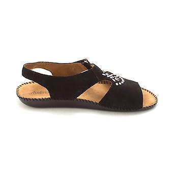 Auditions Womens Devine Leather Open Toe Casual Slingback Sandals