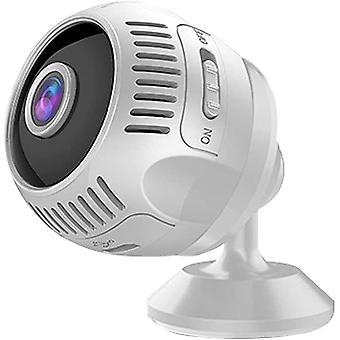 كاميرا صغيرة HD 4K رؤية ليلية صغيرة فيديو صغير مشاهدة واي فاي IP كاميرا الحركة استشعار ميني كاميرا صغيرة لوزارة الداخلية (أبيض)