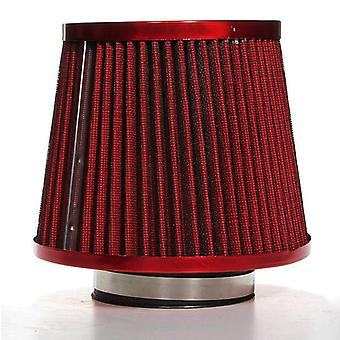 Universal Carbon Finish Car Air Filter Mesh Cone 76mm RED COLOR