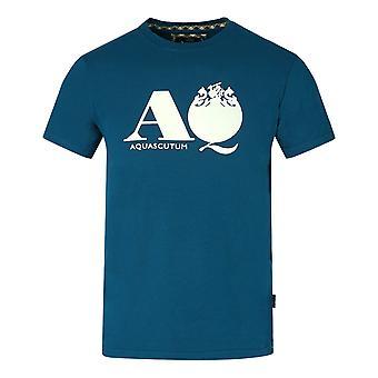 Aquascutum AQ Logo Blå T-Shirt