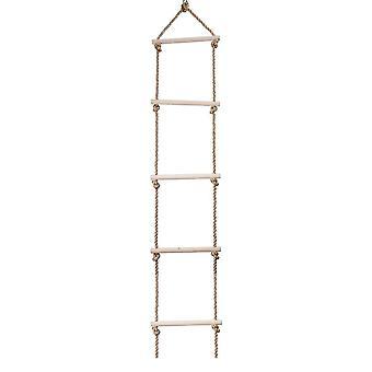 Scala di corda in legno da arrampicata all'aperto a 5 pioli / 6 gradini
