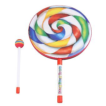 Tambourines 9.8 inch lollipop shape drum percussion education toys for kid and baby