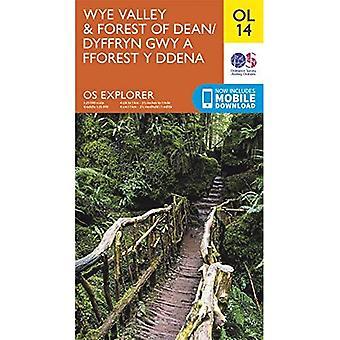 Wye Valley &forest of Dean (OS Explorer Kaart)
