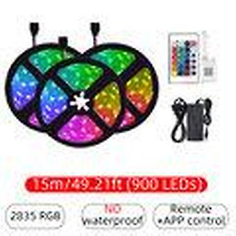 10M/15m 32.81ft/49.21ft 2835 bluetooth app led strip light non-waterproof rgb flexible lamp+24-keys remote control dc12v