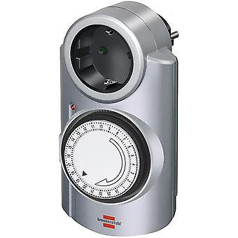 Brennenstuhl Zeitschaltuhr, geerdet, 24 h-Einstellungen, Haustier, 240V/16A/3500W, Silber