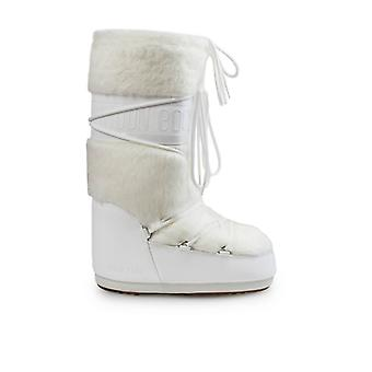 Moon Boot Classic Faux Fur White Snow Boot