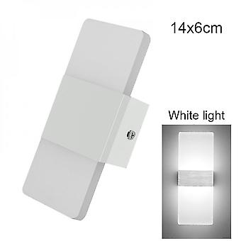 Led Wall Light-up Down Cube Indoor Outdoor Sconce Lighting Lamp Fixture Decor